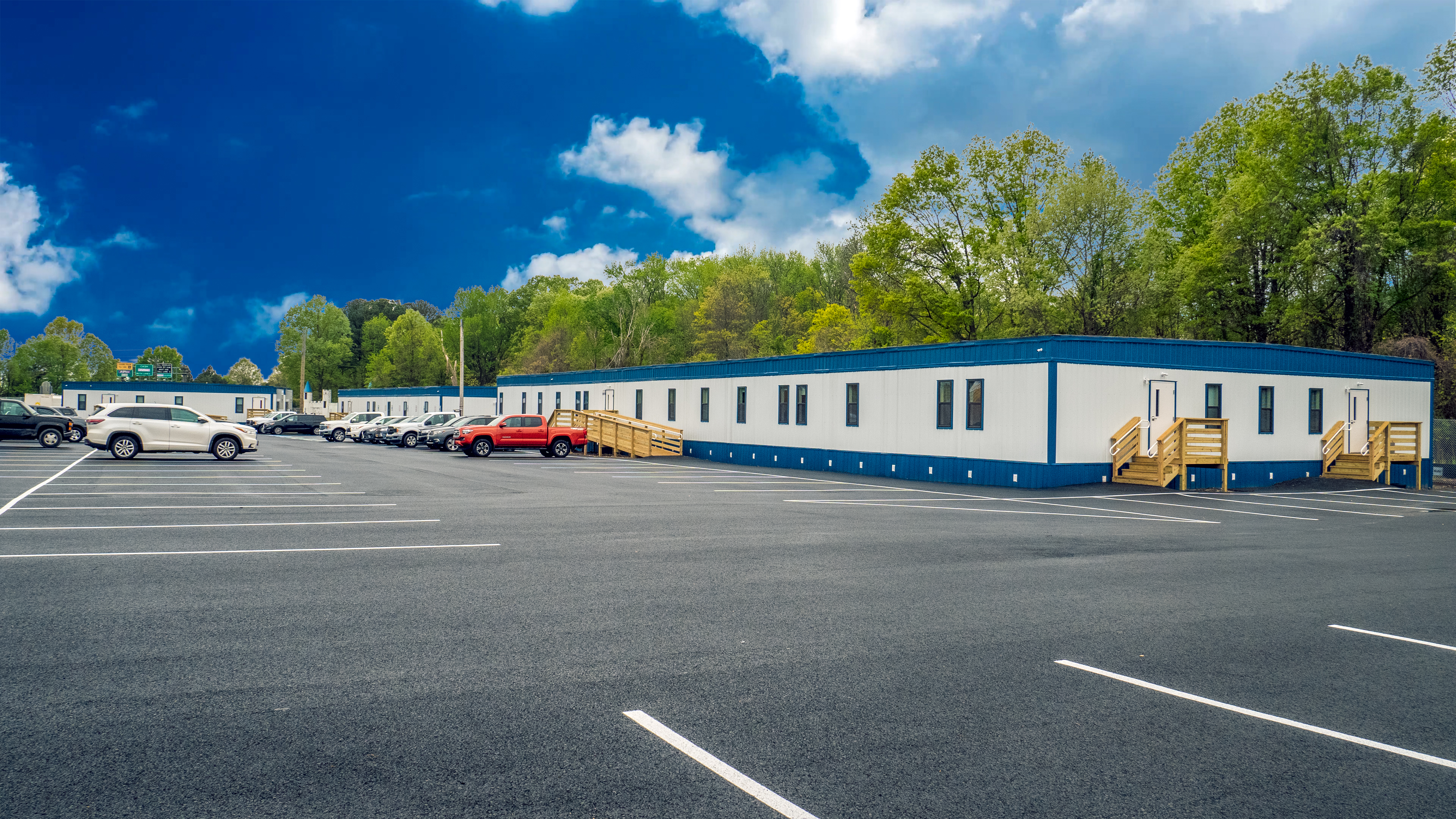 large relocatable office complexes