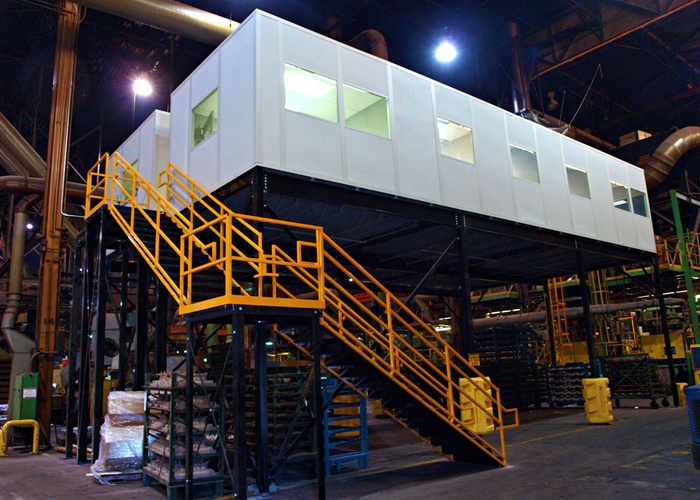 Office-on-Mezzanine Modular Mezzanine System