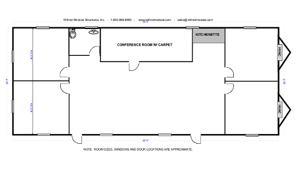 24X60 mobile office layout