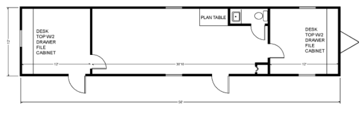 12X56 mobile office layout