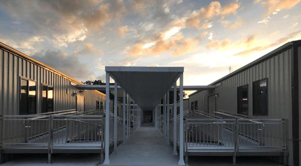 modular school building awnings