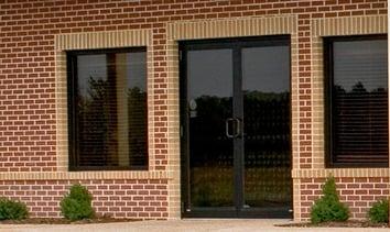 Exterior-door-glass double- bronze -photo