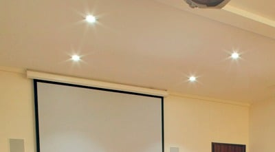 Electric-Interior-recessed lights in hard ceiling