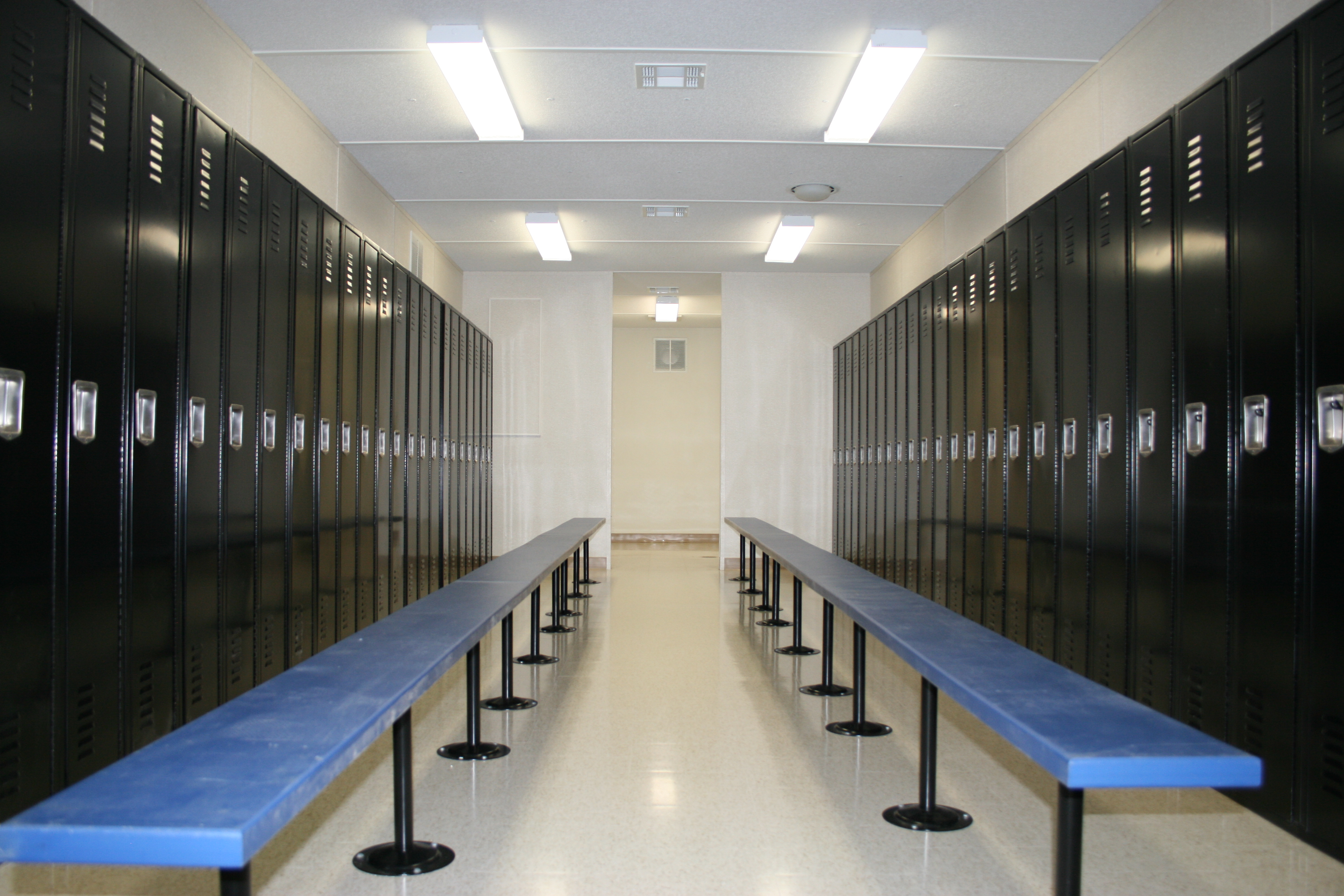 Lockers in Modular Restroom Building