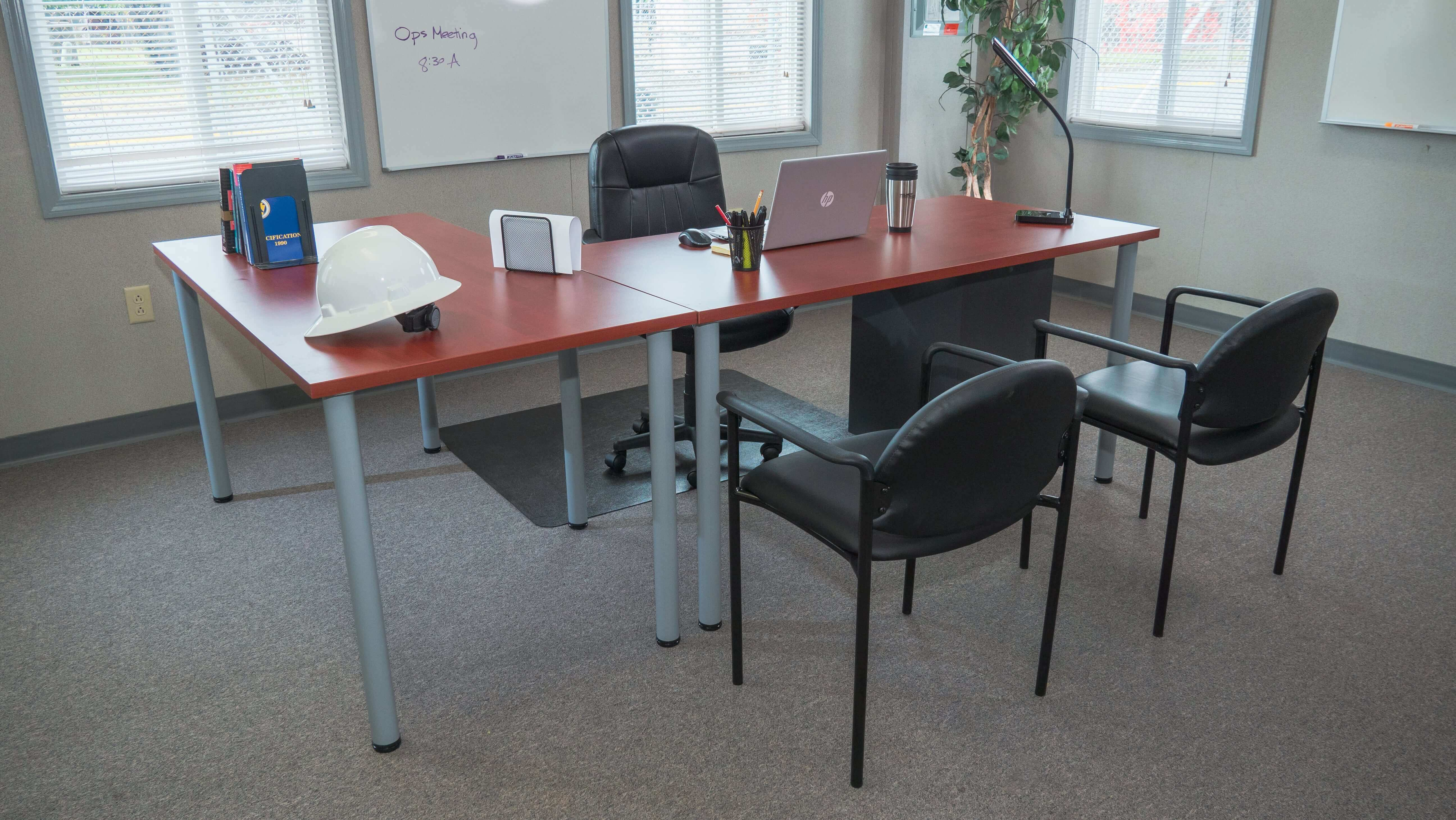 Office Furniture Including Desk and Chairs