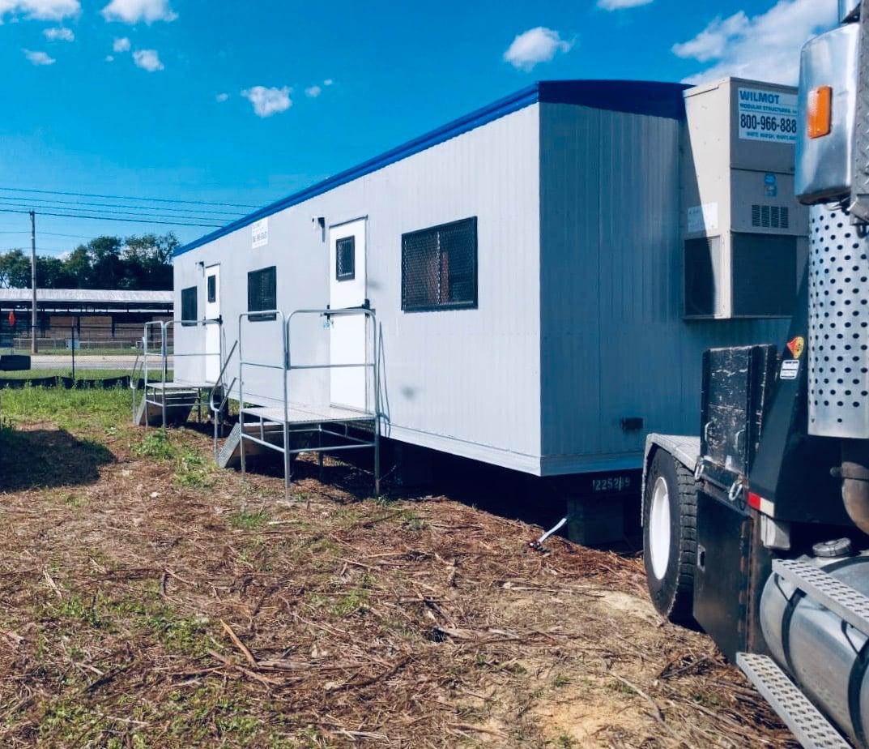 Jobsite mobile office trailer