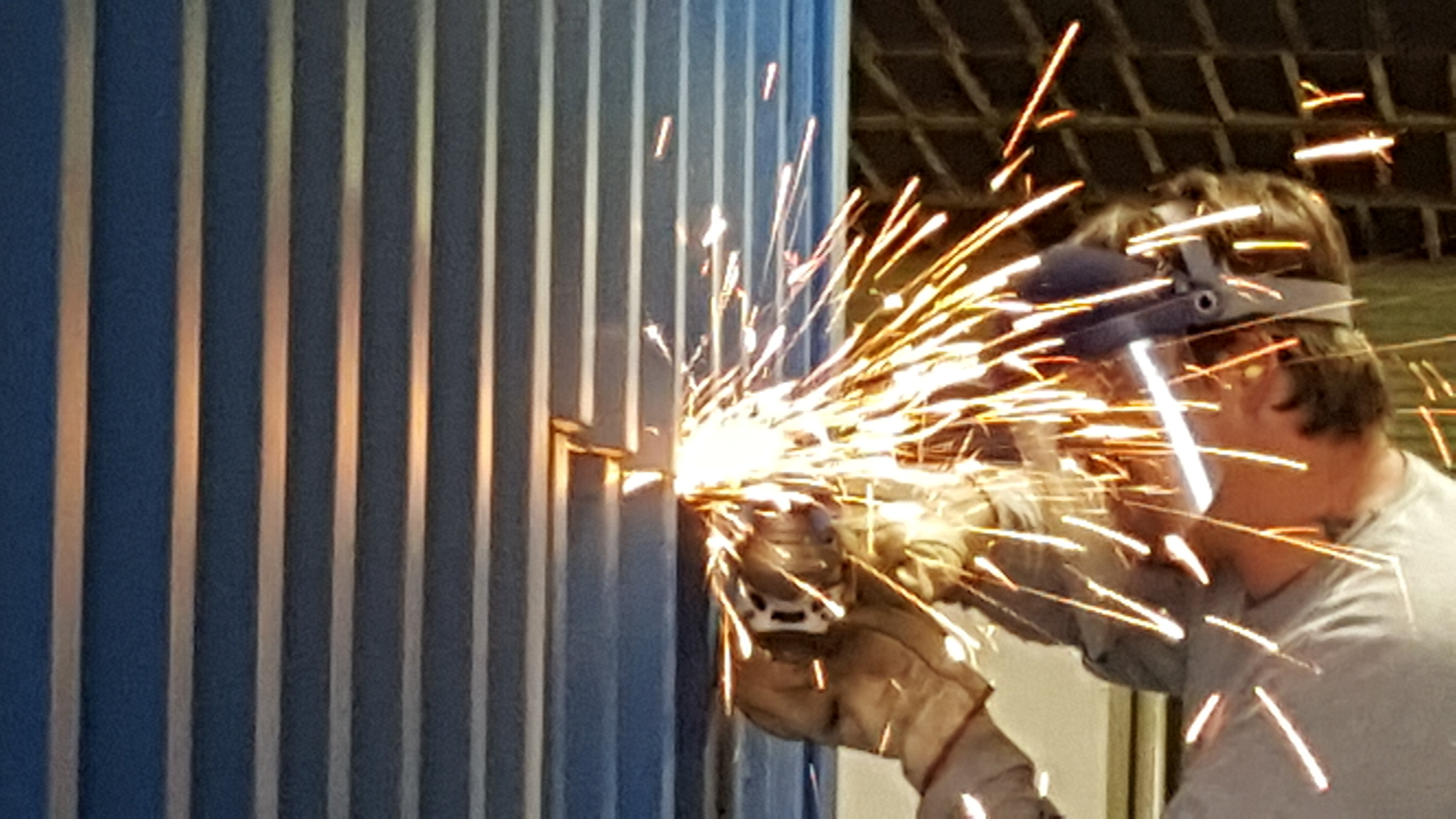 welding shipping container
