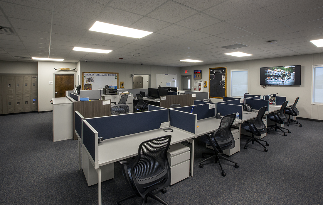 cubicle area